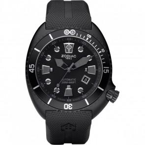 Watch strap Zodiac ZO8010 Rubber Black 24mm