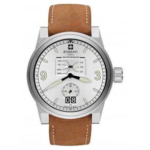 Watch strap Zodiac ZO8564 Leather Cognac