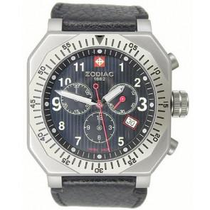 Watch strap Zodiac ZO8800 Leather Black 22mm