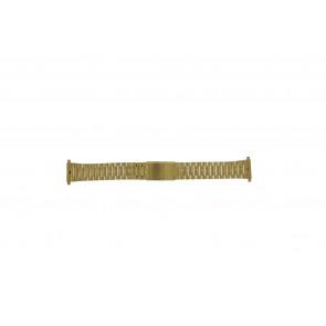 Morellato watch strap A02U03230250220099    Steel Gold (Doublé) 18mm