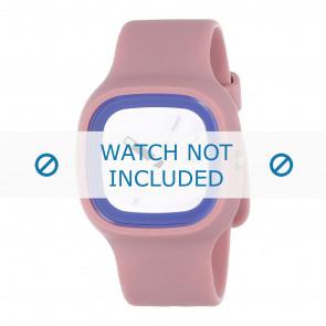 Alessi watch strap AL10023 Rubber / plastic Pink