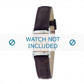 Armani watch strap AR-0205 Croco leather Dark brown 14mm