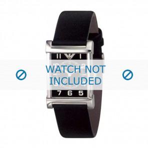 Armani watch strap AR-0209XL Leather Black 20mm