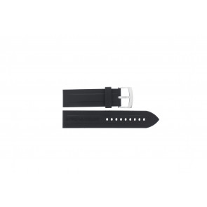 Watch strap Armani AR0527 Vanille Silicone Black 23mm