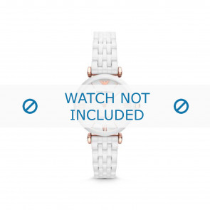 Armani watch strap AR1486 Ceramics White