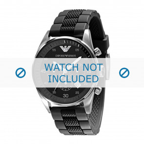 Armani watch strap AR5866 Silicone Black 23mm