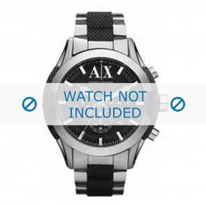 Armani watch strap AX1214 Metal Silver
