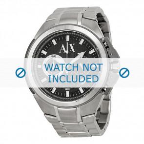Armani watch strap AX-1039 Steel Silver 27mm