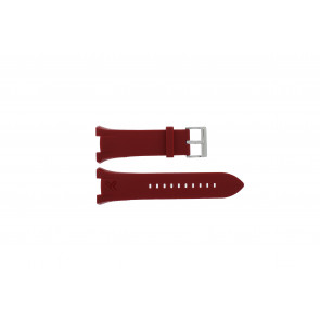 Armani watch strap AX-1040 Silicone Red 14mm