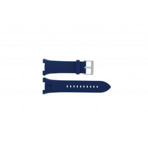 Watch strap Armani AX1041 Silicone Blue 14mm