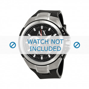 Watch strap Armani AX1042 Silicone Black 32mm