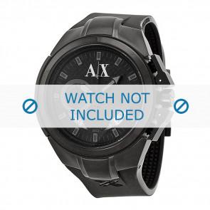 Armani watch strap AX-1050 Silicone Black 14mm