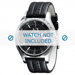 Armani watch strap AX-1055 Leather Black 22mm