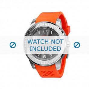 Armani watch strap AX-1073 Rubber Orange