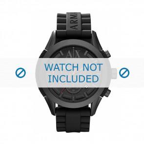 Armani watch strap AX-1212 Silicone Black 22mm