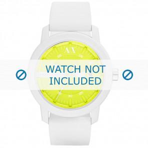 Armani watch strap AX-1241 Silicone White 22mm