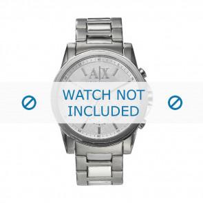 Armani watch strap AX-2058 Steel Silver 22mm