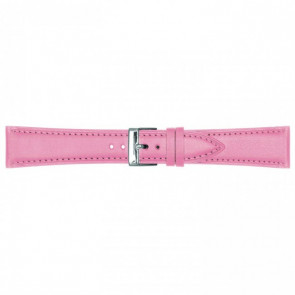 Leather watch strap pink 14mm 662