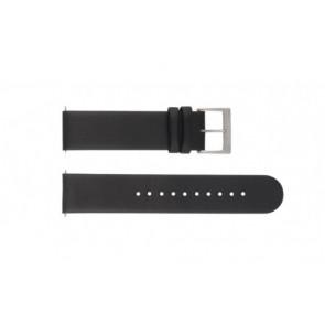 Mondaine watch strap BM20001 / FE16220.20Q Leather Black 20mm