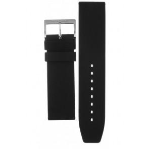 Mondaine watch strap BM20068 / FP9624.20Q.1 RUBB. Rubber / plastic Black 24mm