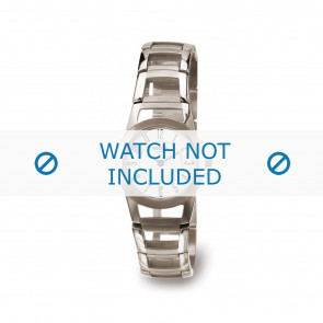 Boccia watch strap 3140-01 Titanium Silver 22mm