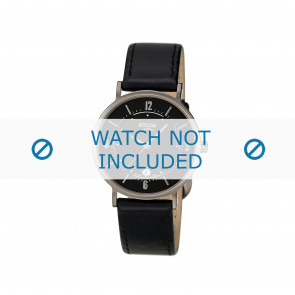 Boccia watch strap 3154 Leather Black 16mm