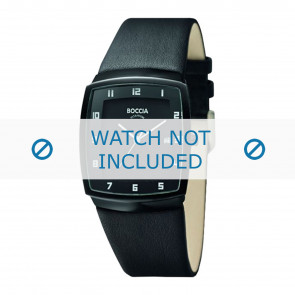 Boccia watch strap 3541.03 Leather Black