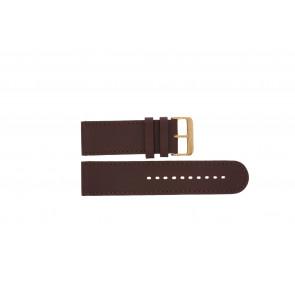 Prisma watch strap DBR27 Leather Brown 27mm + brown stitching
