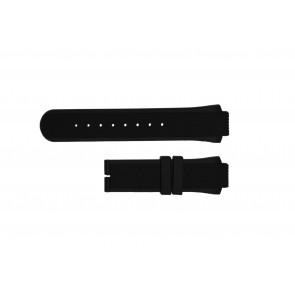 Breil watch strap TW0450 / TW0455 Rubber Black 16mm