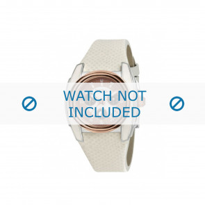 Breil watch strap BW0383 / F260053231 / BW0384 Leather White 25mm