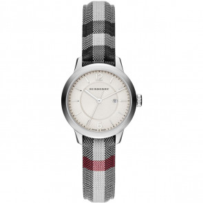 Watch strap  BU10103 Leather/Textiles Grey 14mm
