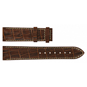 Certina watch strap C610007728 / C61040201 / C536.7029.42.69 Leather Brown 20mm + white stitching