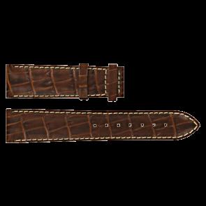 Certina watch strap C610007729 XL Leather Brown 20mm + white stitching
