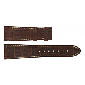 Certina watch strap C610011091 Leather Brown 23mm + white stitching