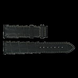 Certina watch strap C610014940 Leather Black 21mm + white stitching