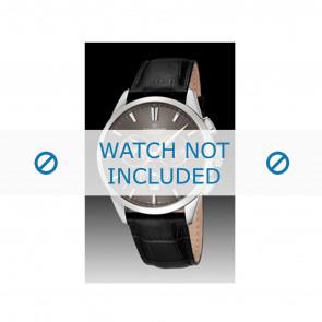 Candino watch strap C4517-2 Leather Black + black stitching