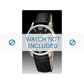 Candino watch strap C4494 Leather Black + black stitching