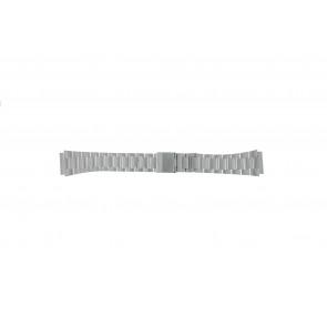 Casio watch strap A158WEA-1EF Steel Silver 18mm