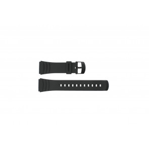 Casio watch strap DBC-32C-1BW Rubber Black 22mm