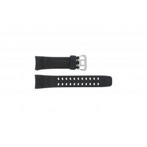 Watch strap G-7400-1V Silicone Black 16mm