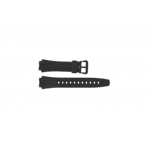 Watch strap AQ-160W-1BV Plastic Black 17mm