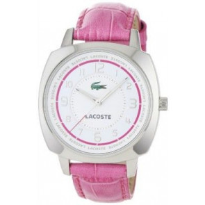 Watch strap Lacoste 2000599 / LC-47-3-14-2233 Croco leather Pink 18mm