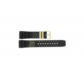 Watch strap Universal CMT-22-DBL Rubber Black 22mm