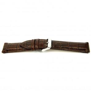 Watch strap I035 XL Leather Brown 24mm + default stitching