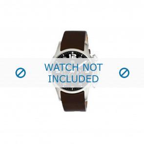 Dolce & Gabbana watch strap 2519774184 Leather Dark brown