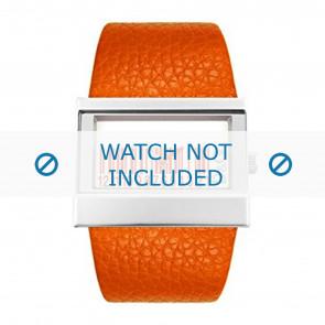Dolce & Gabbana watch strap 3719240404 Leather Orange