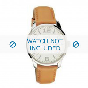 Dolce & Gabbana watch strap 3719340281 Leather Brown + brown stitching