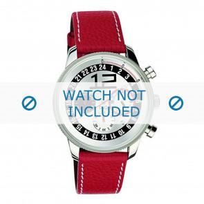 Dolce & Gabbana watch strap 3719740276 Leather Red + white stitching