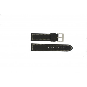 Watch strap Davis BB1020 Leather Black 22mm