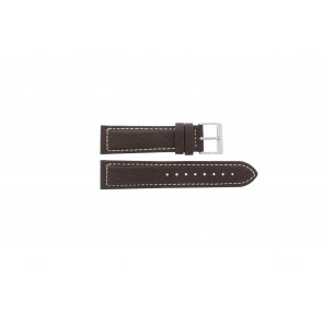 Davis watch strap BB1021 / BB1023 Leather Dark brown 22mm